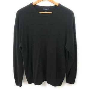Dockers Mens Dark Gray Crew Neck Sweater, Size XL